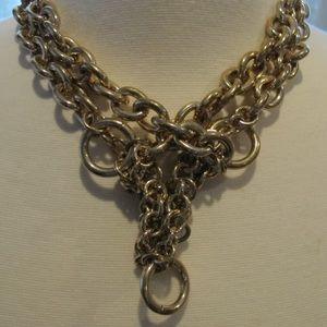 Zara gold ring chunky necklace